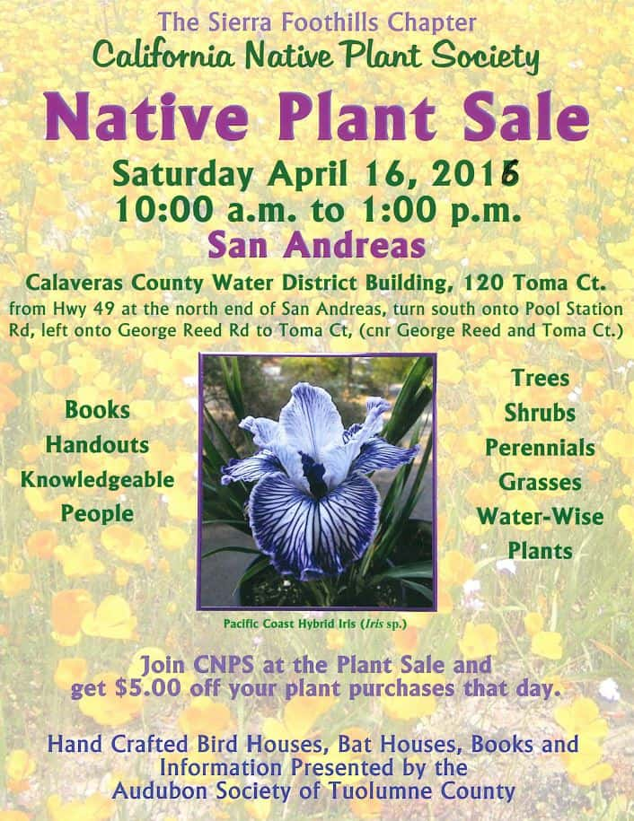 2016 Native Plan Sale Flyer