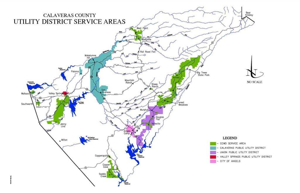 Calaveras County Utilities District Service Areas